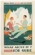 Vintage London Underground poster - Meals taste better outdoors
